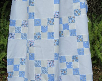 Personailzed Quilted Irish Chain Baby Boy Blanket