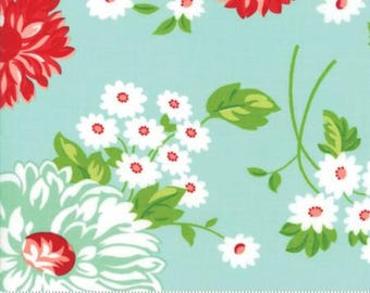 PREORDER The Good Life June Aqua by Bonnie and Camille from Moda -1 yard