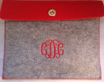 Felt Table Case/Monogrammed Tablet Case/I Pad Case/ipad sleeve