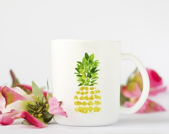 Pineapple Mug, Coffee Mug,  Pineapple Coffee Mug, Birthday Gift, Coffee Cup, Pineapple art