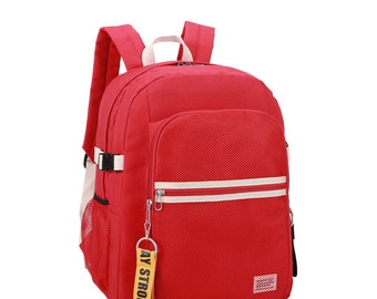 Stripe point Backpack(Red)