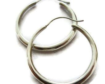 Big  Silver Hoop Earrings, Large Hoops, Sterling Hoops, ARTISAN HANDMADE by Sheri Beryl