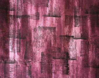 Maroon Fabric / Maroon Cotton Fabric / Cotton Fabric / Vintage Cotton Fabric / Quilting Fabric