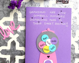 Mother's Day Card for Grandma - Gumball Goodness