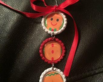 Ornament Gingerbread Man Bottle Cap Teacher gift