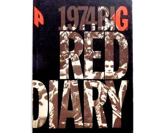 Vintage New Diary 1974 Big Red Diary