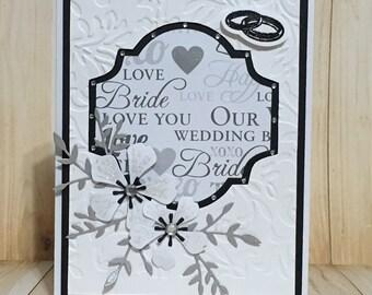 Congratulations, wedding card, greeting card, handmade card, all occasion card