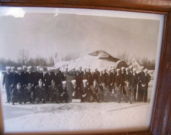 Vintage Sailor Picture with Old Airplane