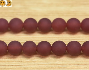 15 inch strand of natural Carnelian matte round beads 6mm 8mm 10mm 12mm & 14mm for choose