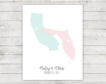 Wedding Guest Book Alternative, Digital File, Printable, States Guest Book, Travel Themed Wedding