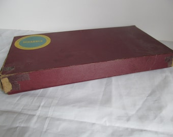 Vintage 1953 Scrabble Game. Cross Word Board Game, Selchow & Richter Co. NY, NY. Original Box