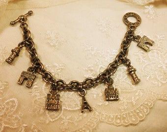 Vintage Agatha Paris Souvenir Charm Bracelet