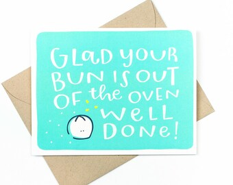 baby congratulations card  -  well done