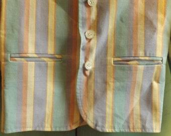 Boy Clothes, Baby Boy Clothes, Striped Blazer Jacket, Pastel, Dress Jacket, Boys Size 3, 80s Boys Clothes, Vintage Kids Clothes,