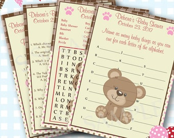 Baby Bear Shower Games, Girl Baby Shower Games, Teddy Bear Shower Games, Cute Bear Baby Shower Theme, Teddy Bear Shower, Girl Shower - #120