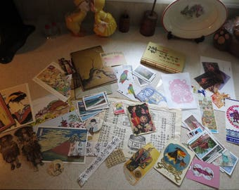 Huge Lot of Oriental Ephemera Vintage and Contemporary Over 100 pieces