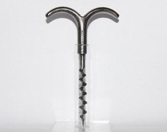 Vintage W and C Ltd (Willetts & Coneys) Steel Two Finger Corkscrew, Eyebrow Corkscrew