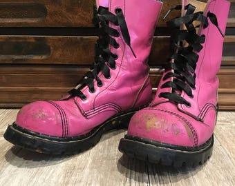 Vintage GRIPFAST UK 5.5 steel toe combat boots