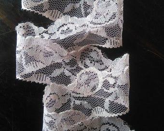 Vintage delicate pink lace trim 2 yards