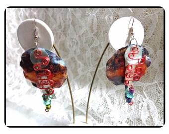 Darling Happy Colorful Earrings -  Wowzer Dangle Pierced Earrings   E6019a-020517002