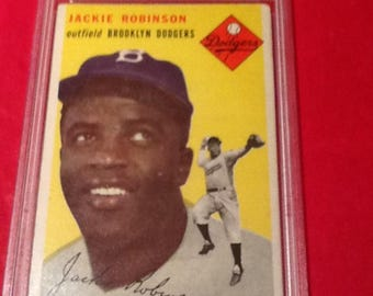 1954 topps #10 jackie robinson psa 3 good baseball card brooklyn dodgers