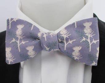 Mens bowtie  ~ thistle design ~ scottish thistle