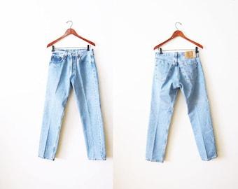 Levis 501 / Vintage Levi's 501 Denim Jeans / Boyfriend Jeans / Mom Jeans / Levis 501 30