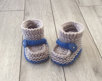 Hand knitted baby  booties,Photo Prop baby,Baby shower,knit baby boy booties,