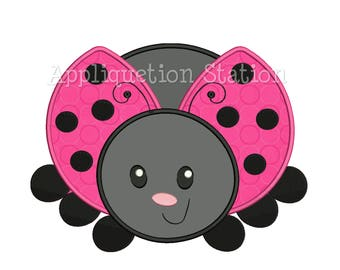 Cute Bugzee Ladybug Crawling Applique Machine Embroidery Design boy/girl baby insect bug INSTANT DOWNLOAD
