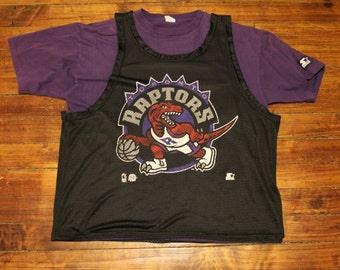 toronto raptors starter jersey vintage 90s NBA basketball mens XL