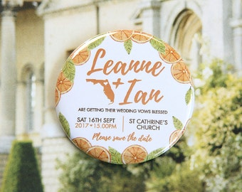 Citrus design - Save the Date Magnets x 40