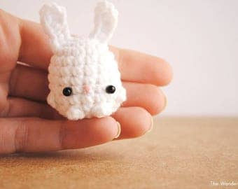 Bunny keychain, kawaii keychain, a cute bunny decor. Made to order.