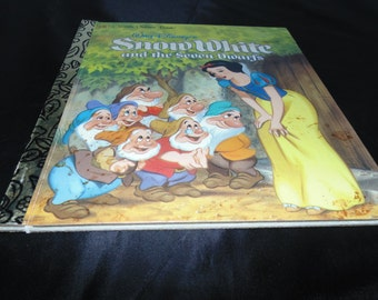 Vintage 1997 Walt Disney's Snow White and the seven dwarfs Little Golden book Hardcover