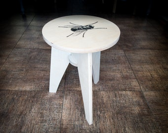 Direct print on wood customizable plywood stool with a print of your choice // free shipping world wide