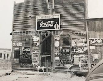Morrisett's General Store Vintage Photo Crawford, Oklahoma Advertising Signs