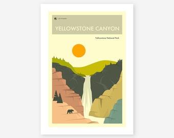 YELLOWSTONE NATIONAL PARK (Giclée Fine Art Print/Photo Print/Poster Print) 'Yellowstone Canyon' by Jazzberry Blue