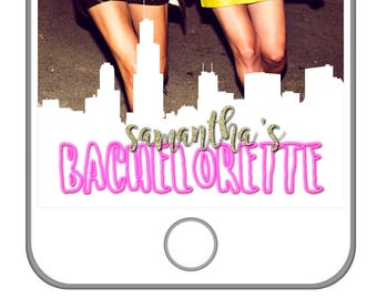 Chicago Bachelorette Party   The Windy City   Chicago Skyline   Custom Snapchat Geofilter   Personalized Bachelorette Filter   Chi Town