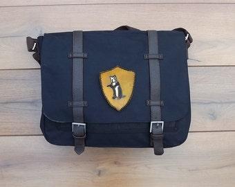 Hufflepuff Messenger bag Harry Potter satchel canvas