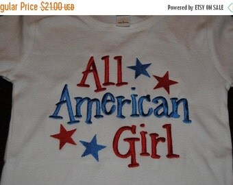 20% OFF Entire Shop All American Girl Custom embroidered saying shirt or one piece w/snaps, Toddlers Girls, Boys