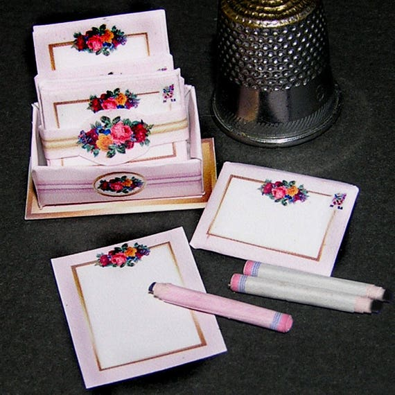 Paper flower, paper minis, DIY kit from paper in miniature for the Doll House, Doll House, dollhouse miniatures # 40006