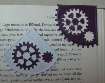 Steampunk Gear Corner Bookmarker,