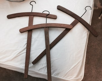 SALE RARE antique french wooden costume clothing hangers cross hanger shabby nordic chic