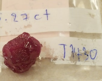 Mozambique 15.27ct Heat Treated Rough Ruby Gemstone with Free Shipping