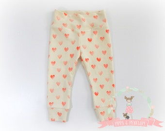 Baby Leggings, Toddler Leggings, Knit Pants, Baby Girl Clothing, Baby Pants, Valentine Day Clothing
