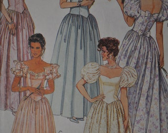 1990's Bridesmaid Dress - McCall's # 4681 - size 10 or size 12- Sweetheart Neckline - 3 sleeve choices