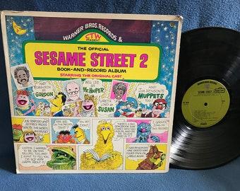 "RARE, Vintage, ""The Official Sesame Street 2"" Vinyl LP, Book and Record Album, Childrens, Cookie Monster, Big Bird, Frank Oz, Jim Henson"