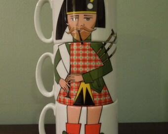 Unique Scotsman Mugs Madrid Spain Porcelanas Guillen
