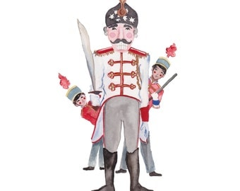 Nutcracker pack of 5 holiday cards.