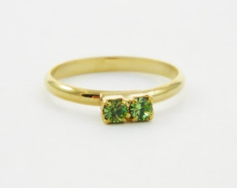 Peridot Two Stone Midi Ring