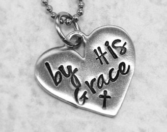 Grace Necklace - Memorial Necklace - Strength Necklace - Christian Necklace - Bereavement Gift - by His Grace
